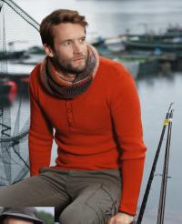 Как связать кофты приталенный мужской пуловер с пуговицами