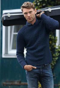 Как связать для мужчин приталенный пуловер в рубчик для мужчины