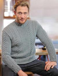 Как связать кофты теплый мужской свитер с узором из кос