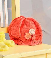 Как связать  ажурная шапочка для девочки с цветком