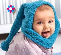 Как связать  детская шапка-капюшон в стиле буратино