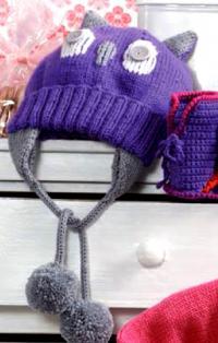 Как связать  детская шапка с совой