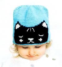 Как связать  детская шапочка с кошечкой