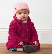 Как связать  детская шапочка с отворотом