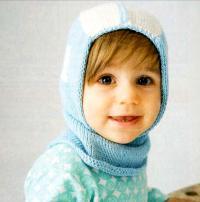 Как связать  шапка-шлем для ребенка