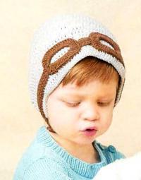 Как связать  шапочка для ребенка с очками