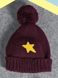 Как связать  теплая шапка со звездой