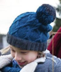 Как связать  узорчатая шапочка с помпоном