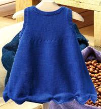 Как связать платья платье для ребенка с волнообразным подолом