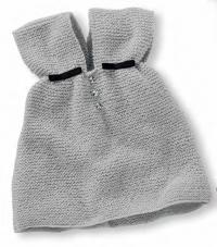 Как связать  сарафан простой вязки со стразами и лентой