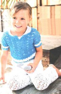 Как связать  ажурные брюки и джемпер для ребенка