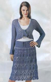 Как связать крючком ажурная юбка с завязками на талии