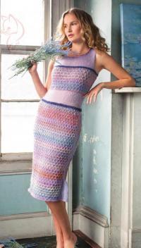 Как связать спицами платье -футляр с ажурной вставкой
