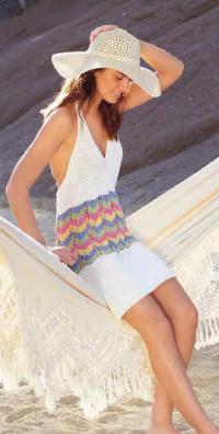 Как связать спицами платье-сарафан с открытой спиной