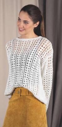 Как связать спицами ажурный пуловер оверсайз