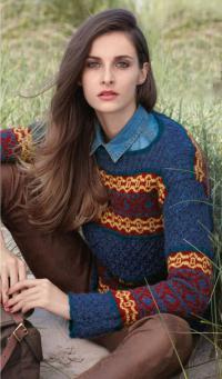 Как связать спицами ажурный свитер с жаккардовым узором