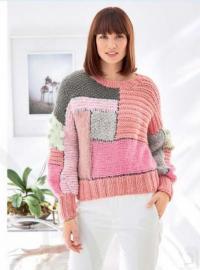 Как связать спицами цветной свитер с геометрическим рисунком