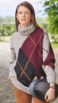 Как связать спицами цветной свитер в технике интарсия