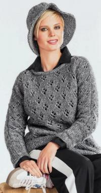 Как связать спицами классический ажурный пуловер