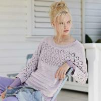 Как связать спицами классический пуловер с ажурной кокеткой