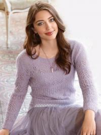 Как связать спицами нежный пуловер с ажурным узором