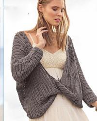 Как связать спицами оверсайз пуловер с перекрещенными полочками