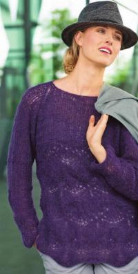 Как связать спицами пуловер с ажурным рисунком