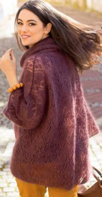 Как связать спицами пуловер оверсайз с ажурным узором