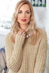 Как связать спицами пуловер оверсайз с узором в рубчик