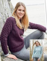 Как связать спицами пуловер реглан