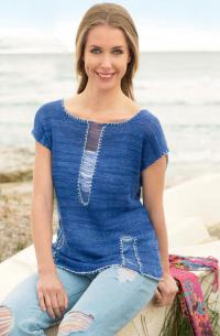 Как связать спицами пуловер с узором из спущенных петельн