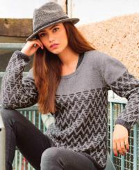 Как связать спицами пуловер с узором из зигзагов