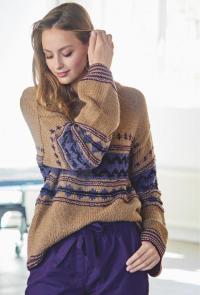 Как связать спицами свитер со структурным жаккардовым узором