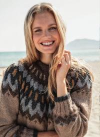 Как связать спицами свитер с жаккардовым бордюром