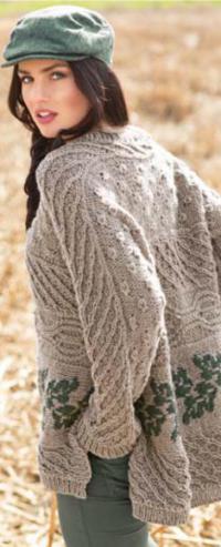 Как связать спицами свободный пуловер с цветным рисунком