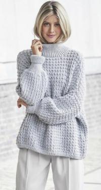 Как связать спицами свободный удлиненный свитер оверсайз