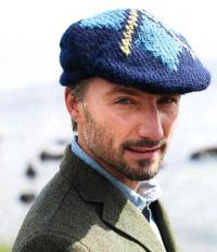 Как связать спицами мужская кепка в шотландском стиле