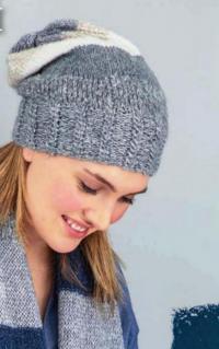 Как связать спицами шапка бини в полоску