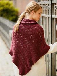 Как связать спицами ажурный платок с окантовкой
