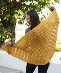 Как связать спицами большая ажурная шаль с узором