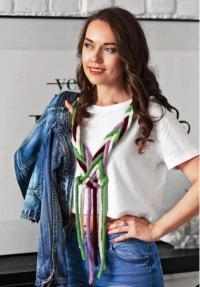 Как связать спицами декоративный шарф-косичка