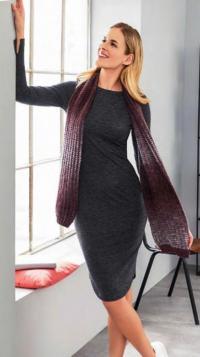 Как связать спицами длинный шарф с узором «мозаика»