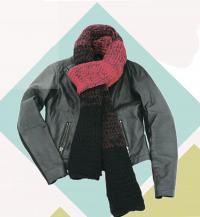 Как связать спицами шарф с градуированным переходом цвета