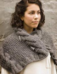 Как связать спицами шарф с объемными косами