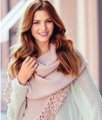 Как связать спицами шарф-палантин с ажурной кромкой