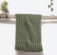 Как связать спицами шарф-снуд с объемной косой