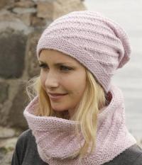 Как связать спицами шарф-снуд и шапочка с узором
