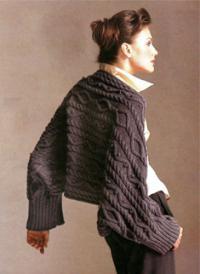 Как связать спицами шарф жгутами