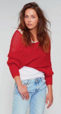 Как связать спицами пуловер-трансформер