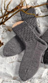 Как связать спицами структурные носки для настоящего мужчины